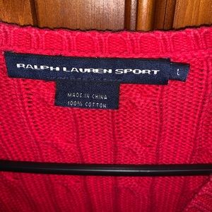 Polo sweater size L
